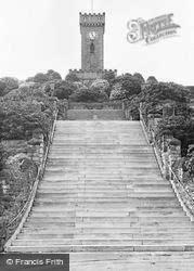 War Memorial And Steps c.1955, Stocksbridge