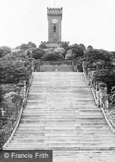 Stocksbridge, War Memorial and Steps c1955