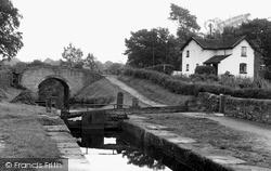 Canal Lock And Bridge c.1955, Stockton Brook