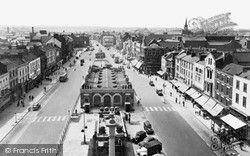 Stockton-on-Tees, High Street West From Town Hall c.1955