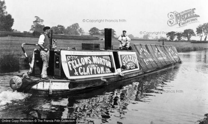 Photo of Stoke Bruerne, Steam Powered Narrow Boat 'sultan' c.1900