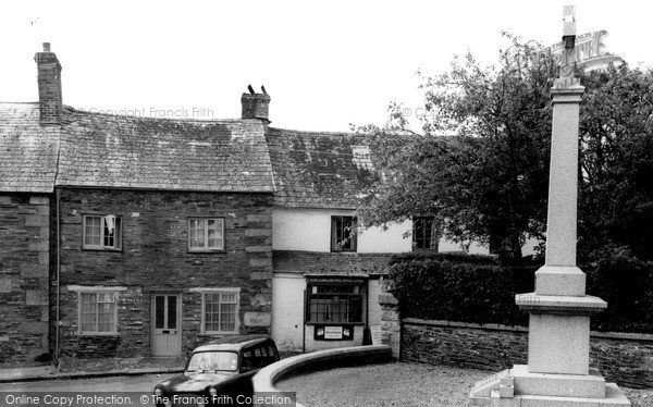Photo of Stoke Climsland, Memorial And Village c.1960