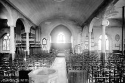 Stoke Damerel, Church Interior 1890, Stoke