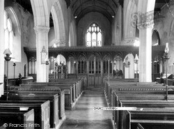 Stoke Gabriel, Church Interior c.1960