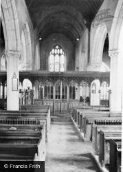Stoke Gabriel, Church Interior c.1960