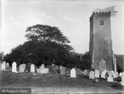 Stoke Gabriel, The Church And Ancient Yew Tree 1907