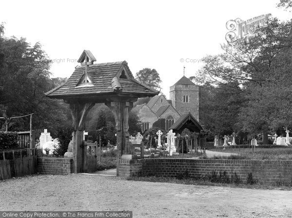 Stoke Poges, Church and Lychgate 1929
