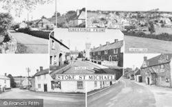 Stoke St Michael, Composite c.1955