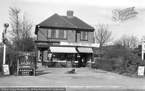 Photo of Stokenchurch, Karenza Cafe c.1955