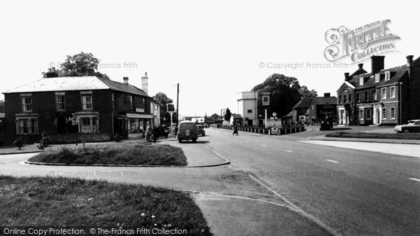 Photo of Stokenchurch, Post Office And King's Arms c.1955
