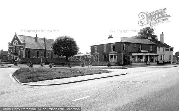 Photo of Stokenchurch, The Post Office And Methodist Church c.1955
