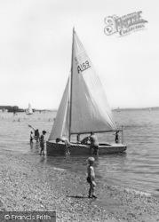 Stokes Bay, A Sailing Dinghy c.1960