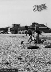 Stokes Bay, On The Beach c.1955