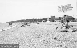 Stokes Bay, The Beach c.1955