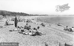 Stokes Bay, The Beach c.1960