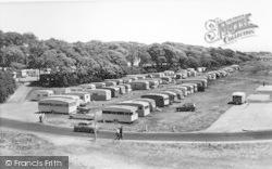 Stokes Bay, The Caravan Site c.1960