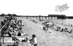 Stokes Bay, The Pier From The Beach c.1960