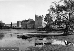 Castle From The Lake c.1955, Stokesay