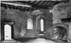 Castle, Room In South Tower 1910, Stokesay