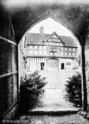 Castle, The Gatehouse Through A Doorway 1931, Stokesay