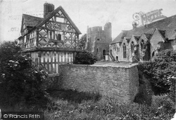 Castle, The Grass Grown Moat 1910, Stokesay