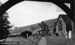 Castle Through The Lychgate c.1955, Stokesay