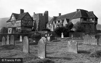 Stokesay, the Castle from the Churchyard c1865