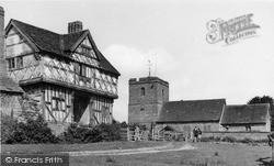 Tudor Gatehouse And Church c.1955, Stokesay