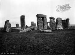 Stonehenge, Looking North 1928