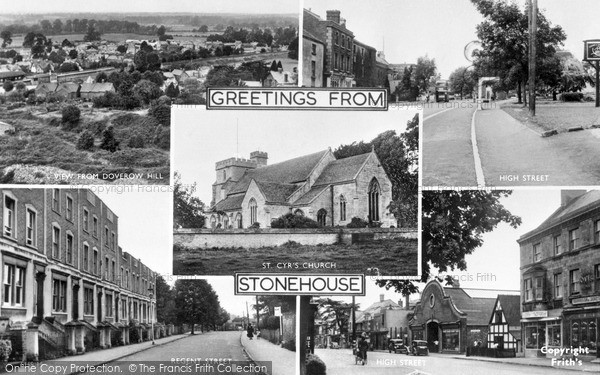 Photo of Stonehouse, Composite c1955
