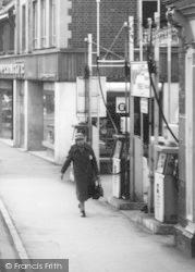 Stonehouse, High Street Petrol Pumps c.1965
