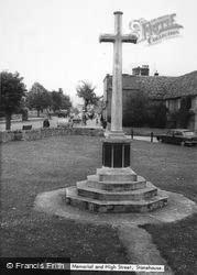 Stonehouse, War Memorial And High Street c.1960