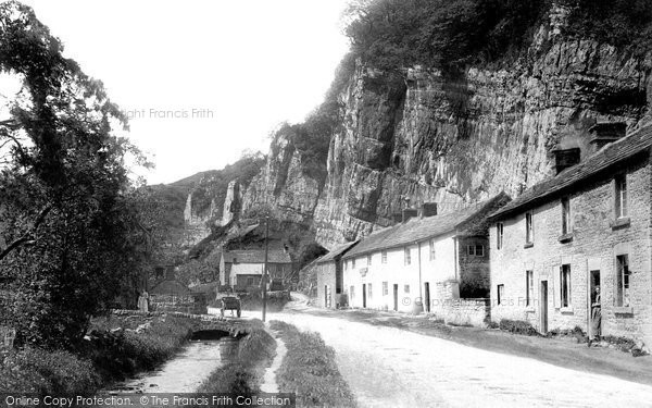 Photo of Stoney Middleton, Entrance and Lovers Leap 1896, ref. 37820