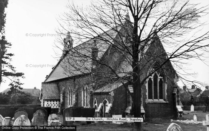 Photo of Stopsley, The Church, Hitchin Road c.1965