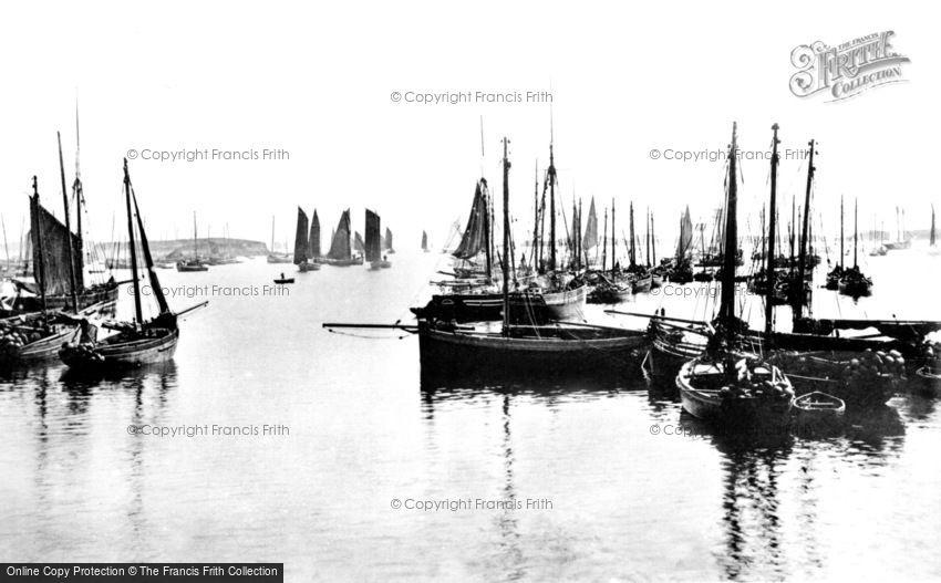 Stornoway, the Herring Fleet 1890