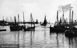 Stornoway, The Herring Fleet c.1890