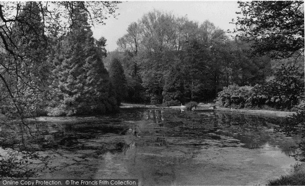 Photo of Storrington, Chantry House Lake c.1955