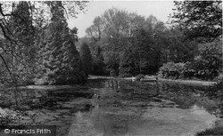 Storrington, Chantry House Lake c.1955