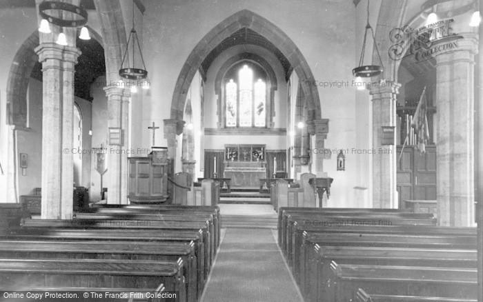 Photo of Storrington, Church Interior c.1955