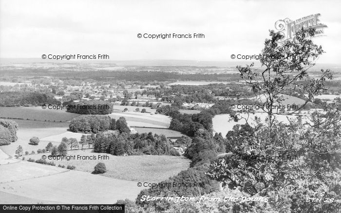 Photo of Storrington, From The Downs c.1955