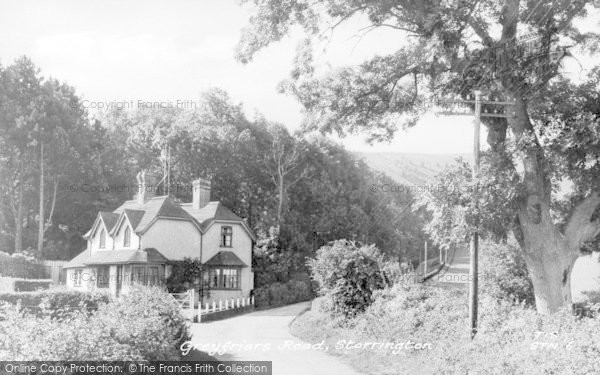 Photo of Storrington, Greyfriars Road c.1955