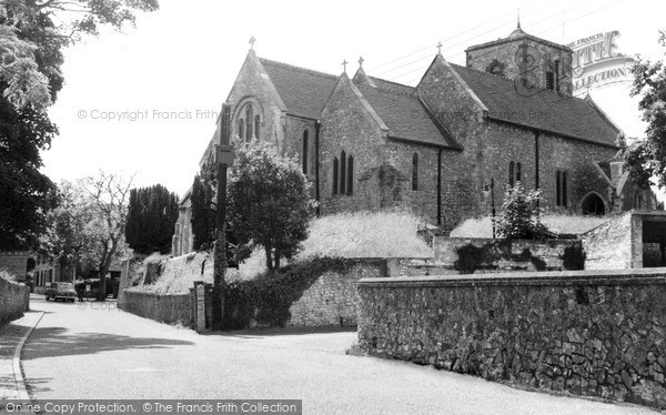 Photo of Storrington, St Mary's Church c.1955