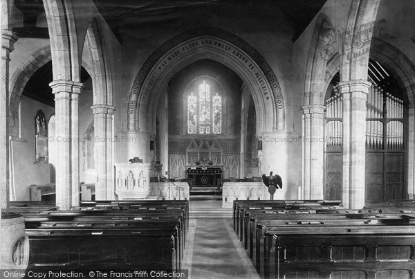 Photo of Storrington, St Mary's Church Interior 1894