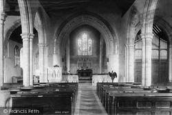 Storrington, St Mary's Church Interior 1894