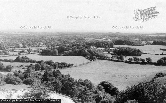 Photo of Storrington, View From The Downs c.1955