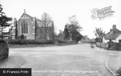 Stoughton, Emmanuel Church And Vicarage Lane 1925