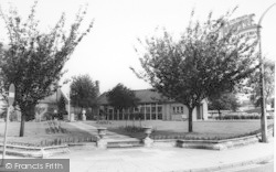 Stourport-on-Severn, The Library And Gardens c.1965