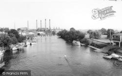 Stourport-on-Severn, The River Severn c.1965