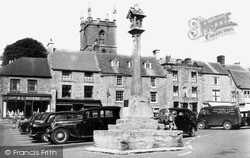 Stow-on-The-Wold, The Cross c.1955