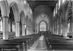 Church Of St Peter And St Mary, Interior 1922, Stowmarket